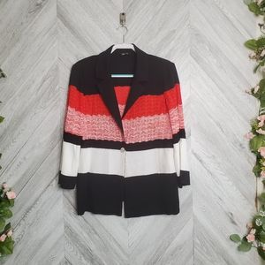 Misook Red One Button Closure Jacket XL